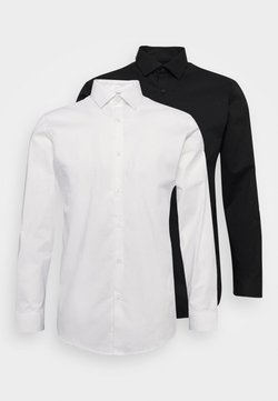 Selected Homme - SLHSLIMBROOKLYN SHIRT 2 PACK - Formal shirt - white/black
