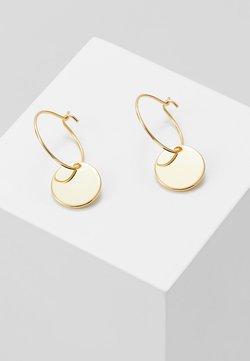 Orelia - MINI COIN HOOP EARRING - Earrings - pale gold-coloured
