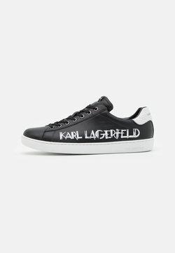 KARL LAGERFELD - KOURT II ART DECO LOGO  - Sneakers - black/white