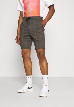 Only & Sons - ONSLINUS CHECK - Shorts - dark grey melange
