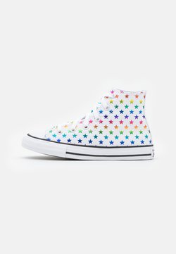 Converse - CHUCK TAYLOR ALL STAR ARCHIVE FOIL STAR PRINT UNISEX - Korkeavartiset tennarit - white/black