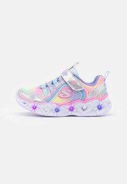 Skechers - HEART LIGHTS - Sneaker low - silver/multicolor