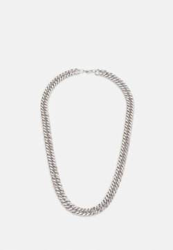 Topman - WIDE FLAT CHAIN NECKLACE - Halsband - silver-coloured