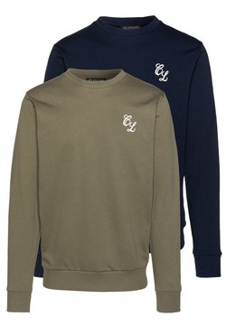 CLOSURE London - CREWNECK 2 PACK - Sweatshirt - khaki/navy