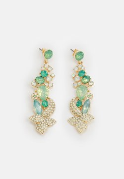 Pieces - PCSMILLA EARRING - Earrings - gold-coloured/green