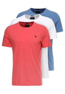 Abercrombie & Fitch - 3 PACK - Basic T-shirt - red