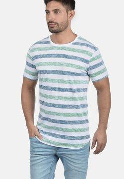 Solid - RUNDHALSSHIRT TET - T-Shirt print - mottled light grey/mottled dark green