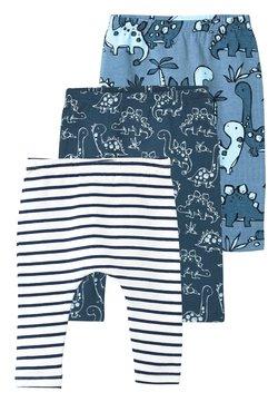 Next - BLUE 3 PACK DINOSAUR LEGGINGS (0MTHS-3YRS) - Leggings - blue