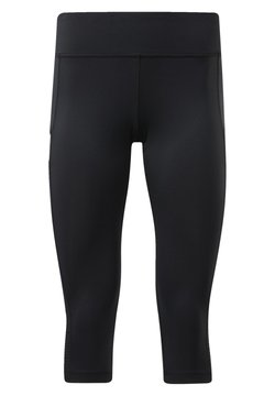 Reebok - WORKOUT READY MESH LEGGINGS - Tights - black