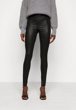 PIECES Tall - PCSKIN PARO GLITTER - Leggings - black