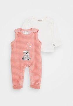 Jacky Baby - PANDA LOVE SET - Grenouillère - dunkelrosa/off white