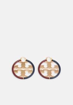 Tory Burch - MILLER HOOP EARRING - Earrings - gold-coloured/navy/imperial garnet