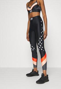 P.E Nation - OFF SIDE LEGGING - Tights - multi-coloured/black/coral