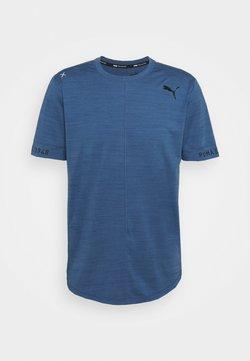 Puma - CLOUDSPUN  - T-Shirt basic - ensign blue heather
