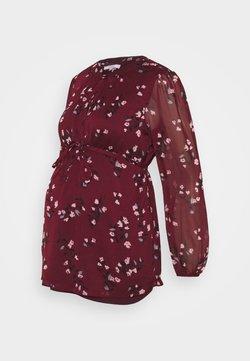 Noppies - BLOUSE NURS GILMER - Bluse - dark red
