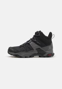 Salomon - X ULTRA 4 MID GTX - Hiking shoes - black/magnet/pearl blue