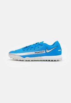 Nike Performance - PHANTOM GT ACADEMY TF - Astro turf trainers - photo blue/metallic silver/rage green
