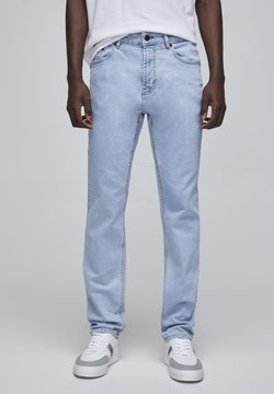 PULL&BEAR - Straight leg jeans - mottled light blue