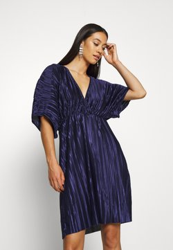 Nly by Nelly - PLEATED KIMONO DRESS - Cocktailkleid/festliches Kleid - navy