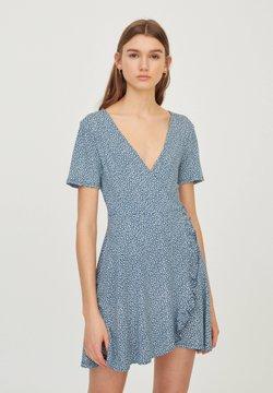 PULL&BEAR - Robe d'été - stone blue denim