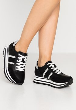 Tamaris - LACE UP - Sneaker low - black/silver