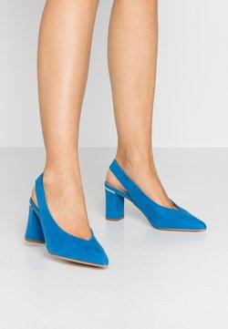 Dorothy Perkins - EMILY BLOCK HEEL SLINGBACK COURT - Classic heels - blue