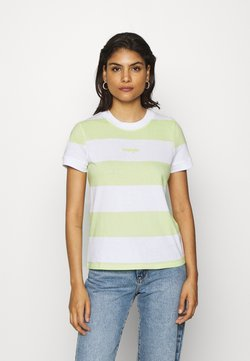 Wrangler - STRIPED HIGH - T-Shirt print - lime sherbet