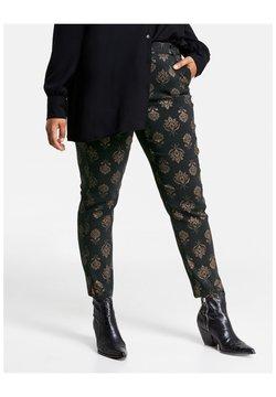 Samoon - Pantalon classique - black gemustert