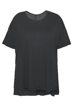 Nike Performance - YOGA LAYER PLUS - T-Shirt basic - black/ smoke grey
