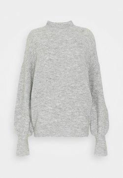 Vero Moda - VMSIMONE HIGHNECK - Trui - light grey melange