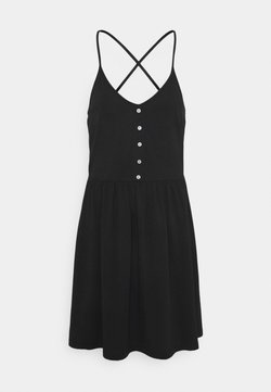 Vero Moda - VMADAREBECCA SHORT DRESS  - Vapaa-ajan mekko - black