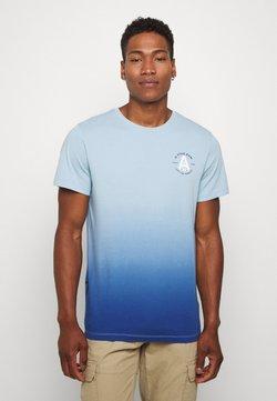 G-Star - LOGO GR DIP DYE  - Print T-shirt - deep sky/thermen
