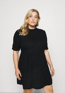 Missguided Plus - FRILL NECK SMOCK DRESS - Day dress - black