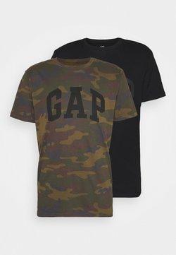 GAP - BASIC ARCH 2 PACK - T-Shirt print - true black