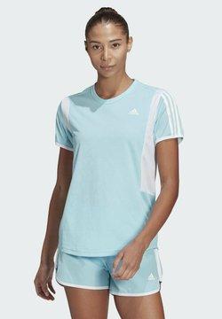 adidas Performance - STRIPES ITERATION T-SHIRT - Camiseta estampada - blue