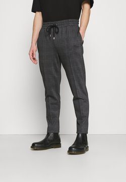 Topman - CHECK JOGGER - Jogginghose - black