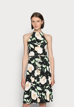 Anna Field - HALTER NECK BRAIDED BELT DRESS  - Jerseykleid - black/white/green