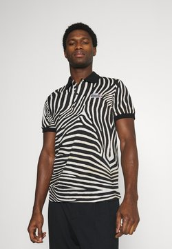 Lacoste - LACOSTE X NATIONAL GEOGRAPHIC - Poloshirt - black/white