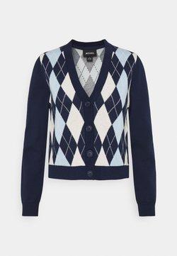 Monki - LAILA - Strickjacke - navy/blue/offwhite