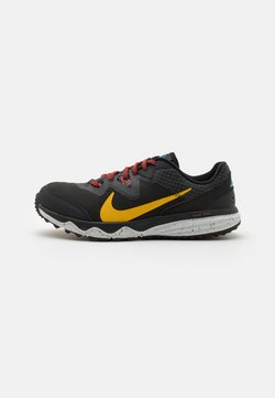 Nike Performance - JUNIPER - Zapatillas de trail running - off noir/dark sulfur/black/pure platinum/chile red/laser blue