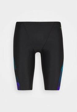Speedo - ALLOVER  CUT JAMMER - Kąpielówki - black/violet/pool