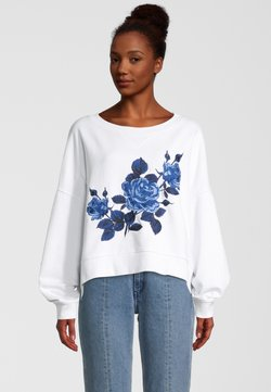 Replay - MIT STICKEREI - Sweatshirt - blanc