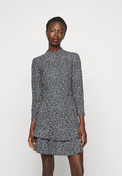 Dorothy Perkins Tall - TALL DITSY SHEERED NECK MINI DRESS - Freizeitkleid - multi