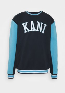 Karl Kani - COLLEGE BLOCK CREW - Sweatshirt - navy