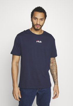 Fila - BENDER - Print T-shirt - black iris