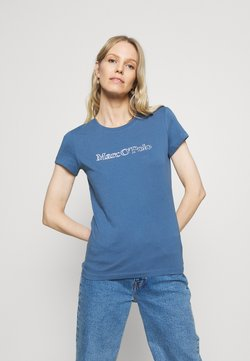 Marc O'Polo - SHORT SLEEVE ROUND NECK - T-Shirt print - nothern sky