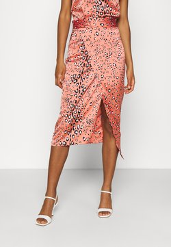 Never Fully Dressed - MULTI USE LEO JASPRE SKIRT - Falda de tubo - orange