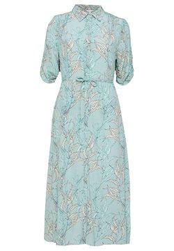 Esqualo - DRESS LONG HARVEST PRINT - Skjortekjole - turquoise