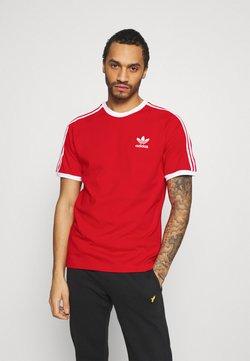 adidas Originals - STRIPES TEE - T-shirt imprimé - scarlet