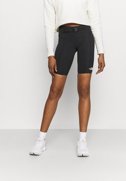 The North Face - WAIST PACK SHORT - Tights - black